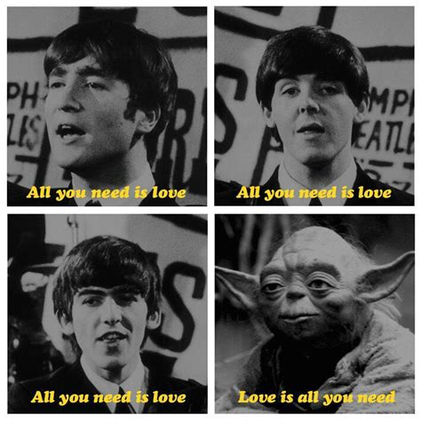 Beatles Yoda Meme - beatles yoda love song funny joke pictures