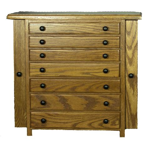 Amish Made Jewelry Chest W7 Drawers & 2 Side Wings Four