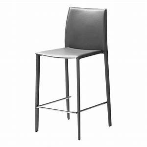 Chaise De Bar Haute : chaise haute grise bor ale lot de 2 id 39 clik achat vente tabouret de bar soldes d s le ~ Teatrodelosmanantiales.com Idées de Décoration