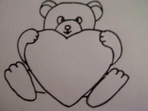 Bilder Zeichnen Für Anfänger : teddyb r mit herz zeichnen zeichnen basteln zum muttertag zeichnen lernen ~ Frokenaadalensverden.com Haus und Dekorationen