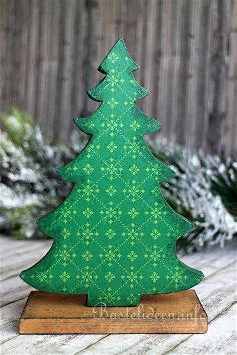 winterbasteln mit holz weihnachtsbaum aus holz
