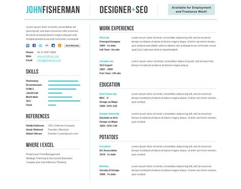 cv resume premium template by themesforce