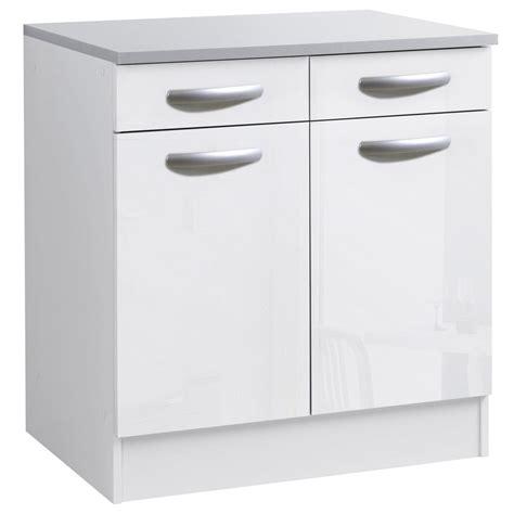 meuble de cuisine blanc meuble bas de cuisine blanc laqué cuisine idées de
