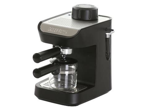 Coffee Consumers   KRUPS XP1020 Steam Espresso Machine with Glass Carafe, 4 Cup, Black