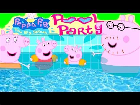 Peppa Pig Fun Pool Party With Hello Kitty Youtube