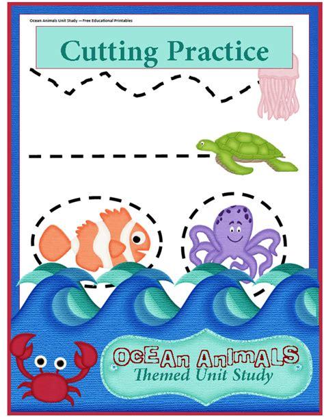 animals unit study preschool cutting practice 3 795 | Preschool Cutting Practice