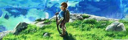 Zelda Breath Legend Wild Dual Screen Wallpapers