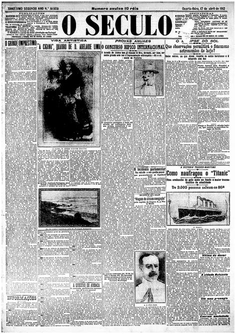 historic newspapers covered  titanic disaster