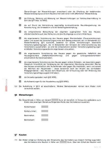 Mieter Und Vermieter Vorsicht Mit Diesen Klauseln by Mietvertrag Wohngemeinschaft Kostenlos Gettfindmy