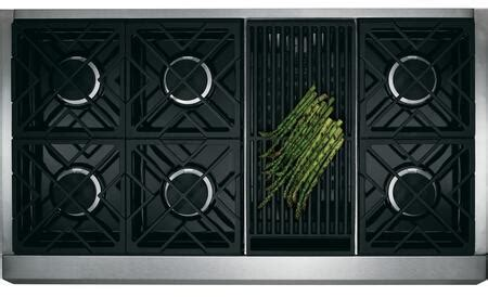 ge monogram zgplrrss   gas freestanding range  sealed burner cooktop  cu ft