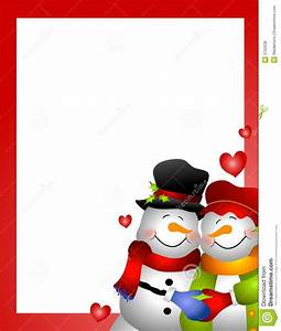 Snowman Snow Woman Couple Border Royalty Free Stock Photos ...