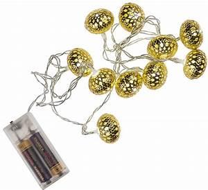 Led Lichterkette Kugeln : lichterkette mit goldenen metall kugeln 10 led ~ Frokenaadalensverden.com Haus und Dekorationen