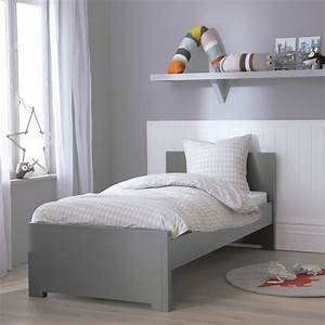 Lit Blanc Fille : lit gigogne gris 90x200 fabrication fran aise alfred et compagnie ~ Teatrodelosmanantiales.com Idées de Décoration