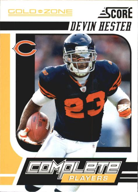 2011 Score Complete Players Gold Zone Bears Football Card ...