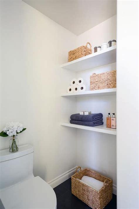 floating bathroom shelves contemporary bathroom