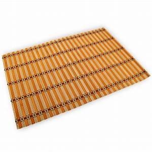 Set De Table En Bambou : un jeu de 6 sets de table exotiques en bambou d coration ~ Premium-room.com Idées de Décoration