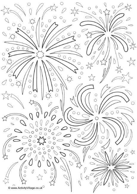 fireworks colouring page  firework colors  year coloring pages fireworks craft  kids