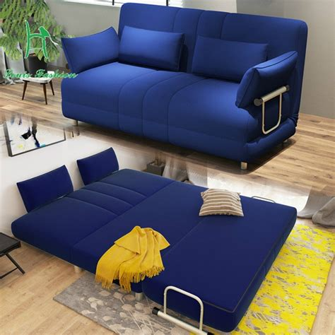 louis fashion modern large sized apartment folding sofa bed  meters  simple double fabric