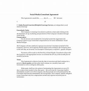 consultant agreement template 15 free word pdf With marketing consultant contract template