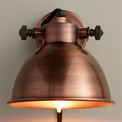 copper wall sconces copper ethan wall sconce world market