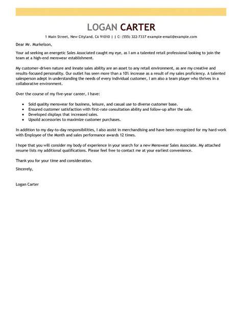 best sales associate level cover letter exles livecareer