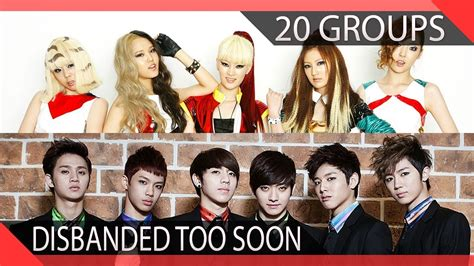 20 Kpop Groups Who Disbanded Too Soon Youtube