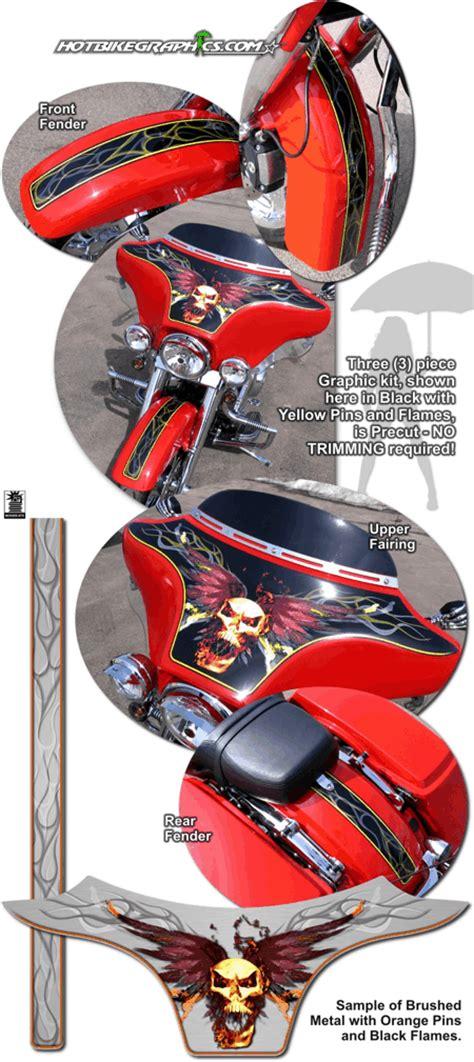 Davidson Vinyl Graphics by Harley Davidson Glide Vicious Graphics Kit 4