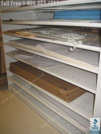 rolled blueprint storage shelving flat file cabinets plan drawing rack images