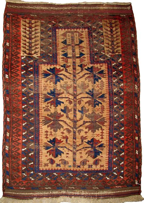 Prayer Rug by Small Camel Ground Baluch Prayer Rug Drawing And