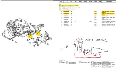 Picture Wiring Diagram 2000 Ram 2500 by 46re Return Line And Supply Line Transmission Cooler