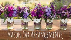 Wedding Trends - Mason Jar Arrangements