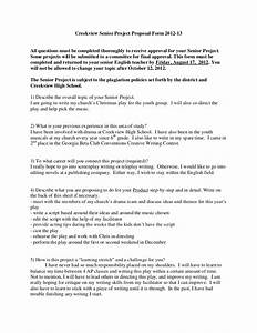 creekview senior project proposal form 2012 With senior project proposal template