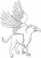 Griffin Coloring sketch template