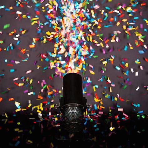 funfetti shot confetti cannon dj warehouse hire