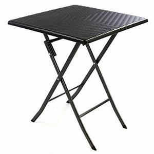 Tisch Mit Mittelfuß Eckig : tisch in rattan optik balkontisch gartentisch klapptisch schwarz 61 x 61 x 75 cm eckig ~ Sanjose-hotels-ca.com Haus und Dekorationen