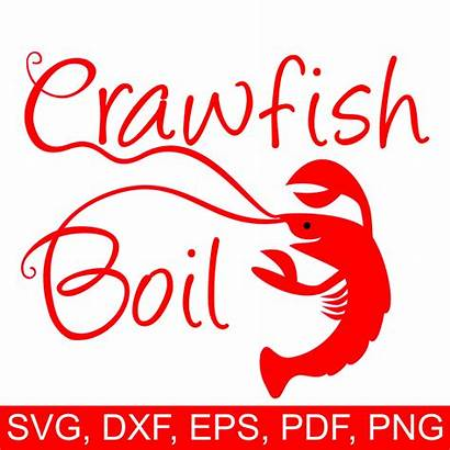 Crawfish Boil Svg Printable Clipart Silhouette Invitation