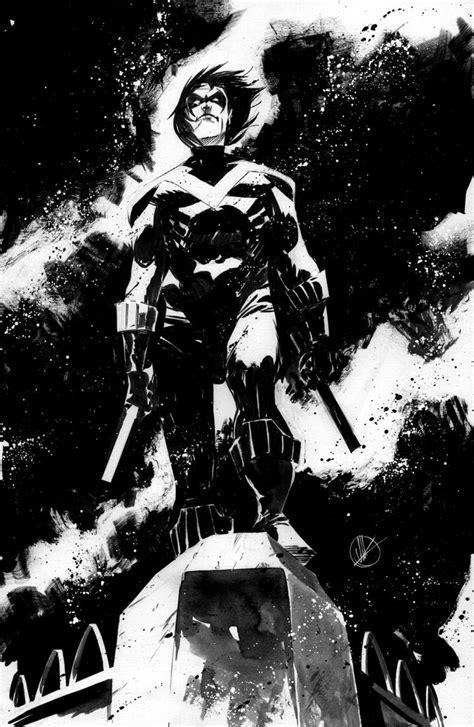 Striking Black & White Superhero Sketches by Matteo