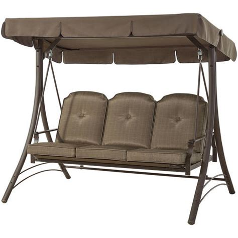 3 Person Porch Swing by Canopy Patio Porch Swing Glider Hammock Outdoor 3 Person