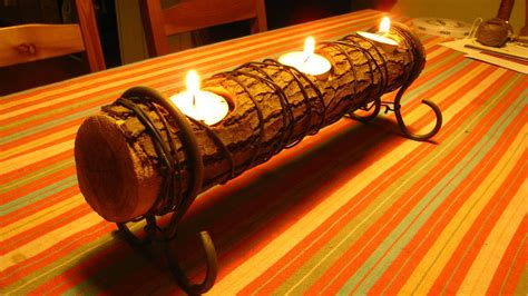 Birch Logs For Fireplace by Easy Log Candle Holder A How To Video A Quick Diy