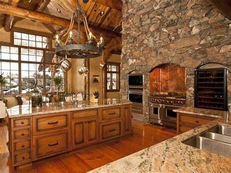 rustic cabin kitchen ideas log home luxury kitchen rustic retreats