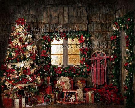 Backdrop Santa by Cozy Cottage 8 215 10 Santa Photo Sets Props Rustic