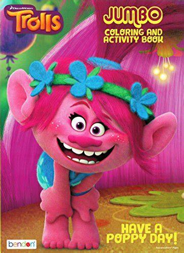 dreamworks trolls   poppy day jumbo coloring