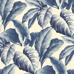 Grandeco Botanical Tropical Leaves Pattern Wallpaper Tree