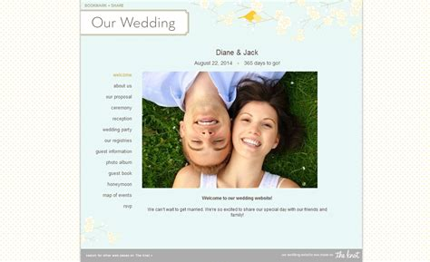 Theknot Websote Templates by Wedding Website Templates Park Avenue Style