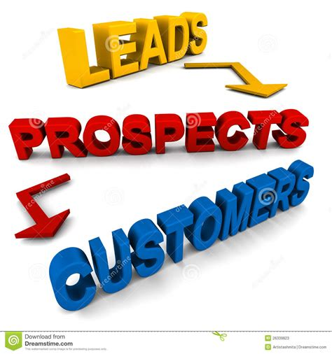 Leads Prospects Customers Stock Photos - Image: 26339823