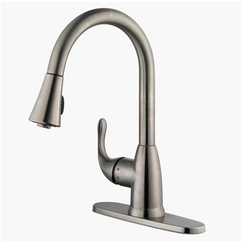 stainless steel kitchen faucet with pull