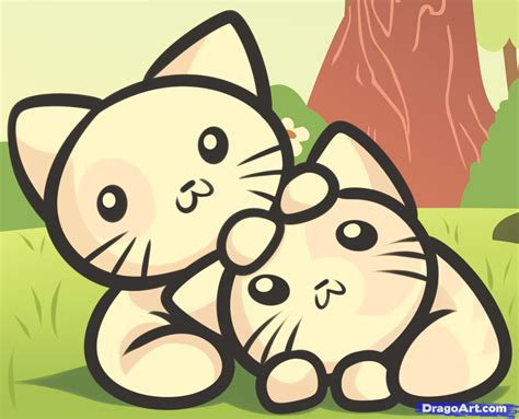 draw kittens  kids step  step animals