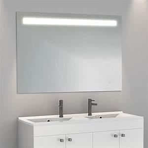 miroir retro eclairant With porte d entrée alu avec miroir salle de bain led 80 cm