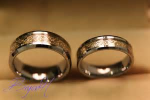 his and his wedding rings tungsten wedding bands set matching size tungsten wedding