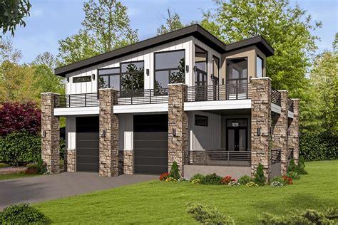 Contemporary Garage Designs by Unique Contemporary Home With Rv Bays 68496vr